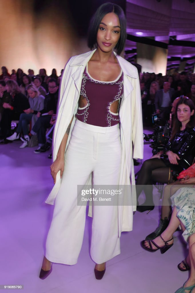 Jourdan Dunn attends the Mulberry 'Beyond Heritage' SS18 Presentation during London Fashion Week February 2018 at Spencer House on February 16, 2018 in London, United Kingdom.