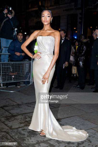 Jourdan Dunn attends the Portrait Gala at National Portrait Gallery on March 12, 2019 in London, England.