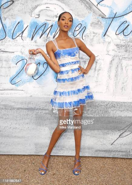 Jourdan Dunn attends The Summer Party 2019 Presented By Serpentine Galleries And Chanel at The Serpentine Gallery on June 25 2019 in London England