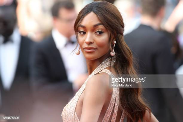 Jourdan Dunn attends the The Killing Of A Sacred Deer screening during the 70th annual Cannes Film Festival at Palais des Festivals on May 22 2017 in...