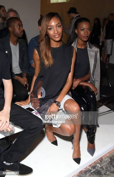 Jourdan Dunn attends the TOPMAN Design show during the London Collections Men SS15 on June 15 2014 in London England