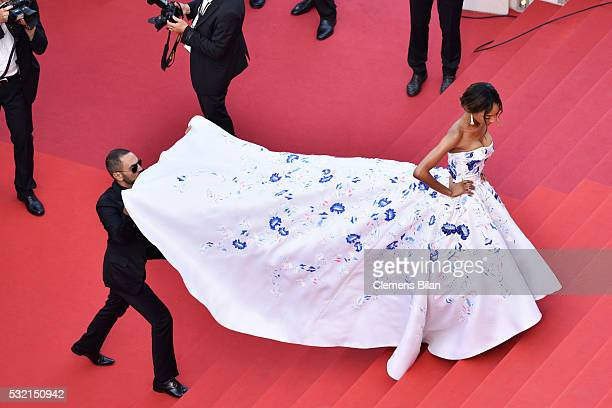 Jourdan Dunn attends 'The Unknown Girl ' Premiere during the 69th annual Cannes Film Festival at the Palais des Festivals on May 18 2016 in Cannes...