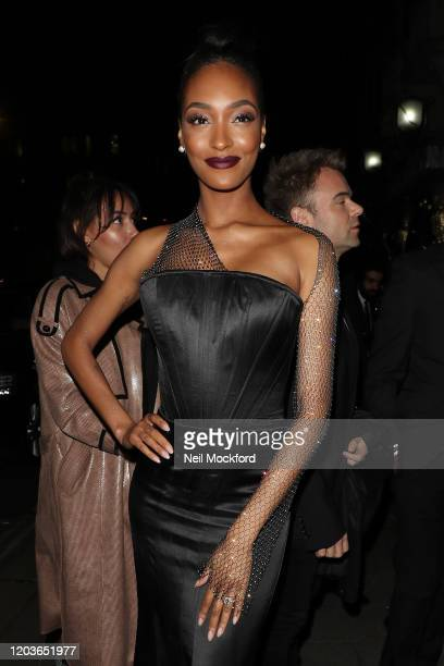 Jourdan Dunn attends the Vogue x Tiffany Fashion Film after party for the EE British Academy Film Awards 2020 at Annabel's on February 02 2020 in...