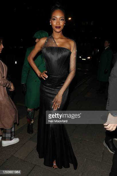 Jourdan Dunn attends the Vogue x Tiffany Fashion & Film after party for the EE British Academy Film Awards 2020 at Annabel's on February 02, 2020 in...