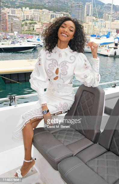 Jourdan Dunn celebrates 50 Years of the Monaco Watch at the Formula 1 Grand Prix De Monaco the legendary event that gave the watch its name in 1969...