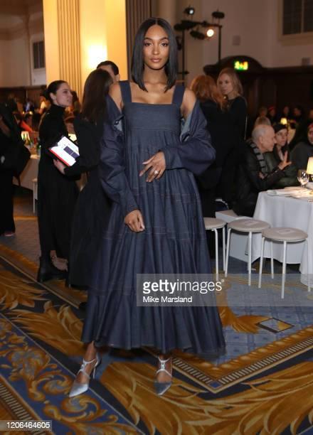 Jourdan Dunn during London Fashion Week February 2020 on February 15, 2020 in London, England.