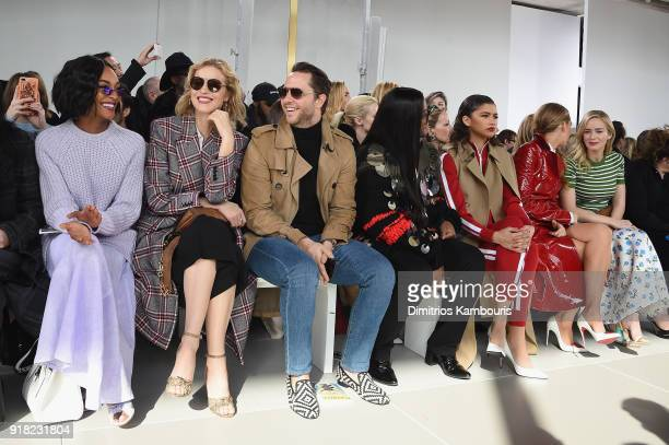 Jourdan Dunn Eva Herzigova Derek Blasberg Law Roach Zendaya Blake Lively and Emily Blunt attend the Michael Kors Collection Fall 2018 Runway Show at...