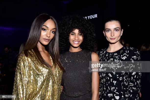 Jourdan Dunn Imaan Hammam and Andreea Diaconu attend The 11th Annual Golden Heart Awards Benefiting God's Love We Deliver at Spring Studios on...