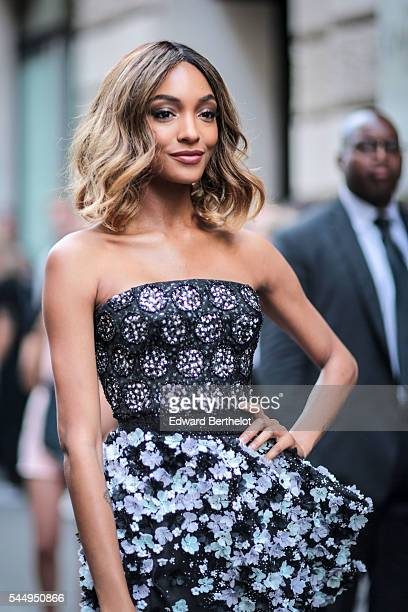 Jourdan Dunn is seen before the Ralph Russo show during Paris Fashion Week Haute Couture F/W 2016/2017 on July 4 2016 in Paris France
