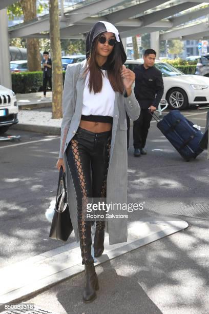 Jourdan Dunn is seen during Milan Fashion Week Spring/Summer 2018 on September 20 2017 in Milan Italy