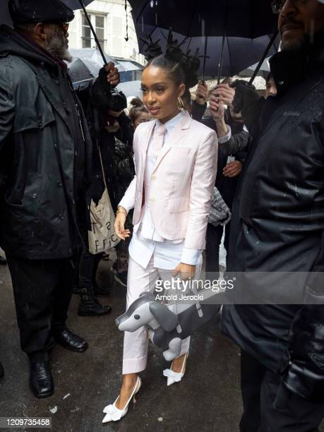 Jourdan Dunn is seen during Paris Fashion Week Womenswear Fall/Winter 2020/2021 on March 01 2020 in Paris France