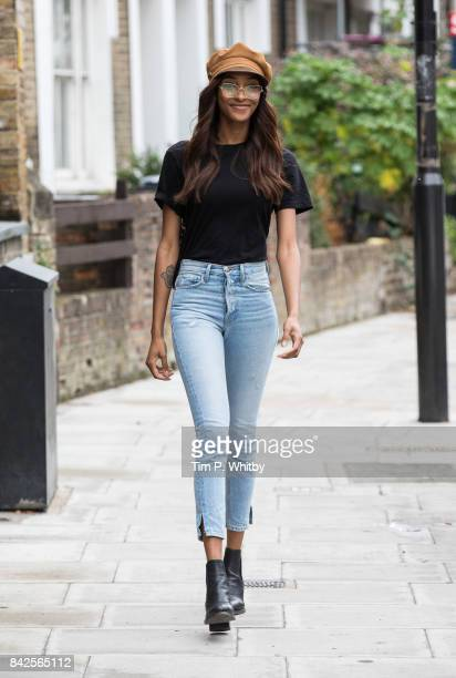 Jourdan Dunn is seen out and about on September 4, 2017 in London