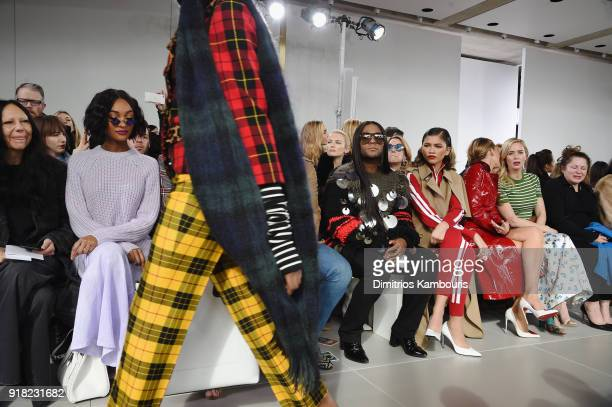 Jourdan Dunn Law Roach Zendaya Blake Lively and Emily Blunt attend the Michael Kors Collection Fall 2018 Runway Show at Vivian Beaumont Theatre at...
