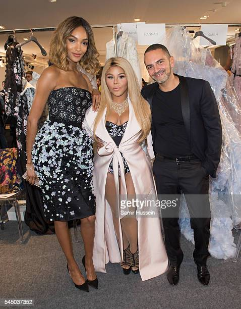 Jourdan Dunn Lil' Kim and Mohieb Dahabieh attend the Ralph Russo Haute Couture Fall/Winter 20162017 show as part of Paris Fashion Week on July 4 2016...