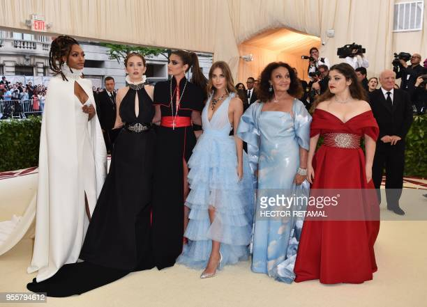 Jourdan Dunn Maya Hawke Taylor Hill Talita Von Furstenberg Diane von Furstenberg and Antonia Steinberg arrive for the 2018 Met Gala on May 7 at the...