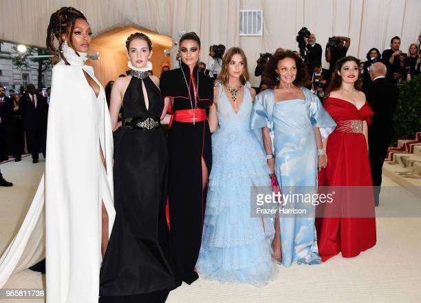 Jourdan Dunn Maya Hawke Taylor Hill Talita Von Furstenberg Diane von Furstenberg and Antonia Steinberg attend the Heavenly Bodies Fashion The...
