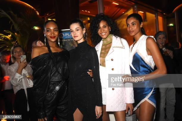 Jourdan Dunn Ophelie Guillermand Cindy Bruna and Immam Hammam attend Women to Women Auction Party at les Bains on February 27 2020 in Paris France