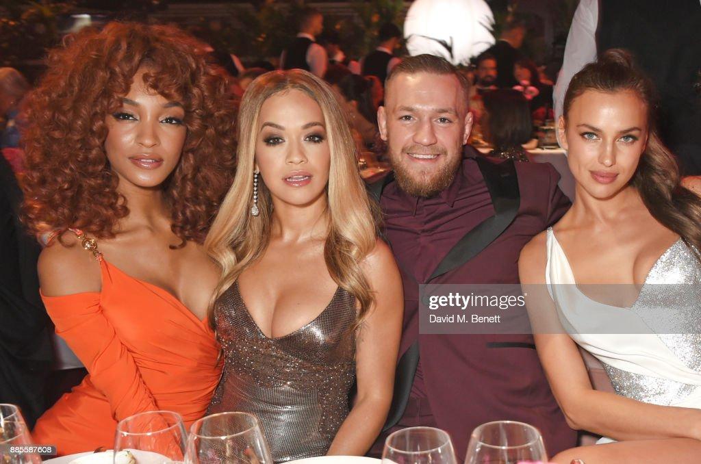 Jourdan Dunn, Rita Ora, Conor McGregor and Irina Shayk attend a drinks reception ahead of The Fashion Awards 2017 in partnership with Swarovski at Royal Albert Hall on December 4, 2017 in London, England.