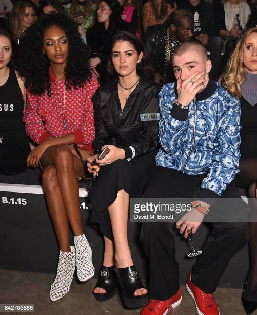 Jourdan Dunn Rocco Ritchie and Kim Turnbull attend the VERSUS show during the London Fashion Week February 2017 collections on February 18 2017 in...