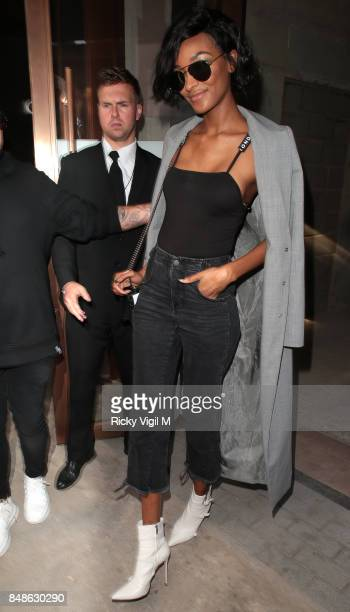 Jourdan Dunn seen at LFW s/s 2018 Topshop Unique catwalk show held at Topshop Showspace during London Fashion Week September 2017 on September 17...