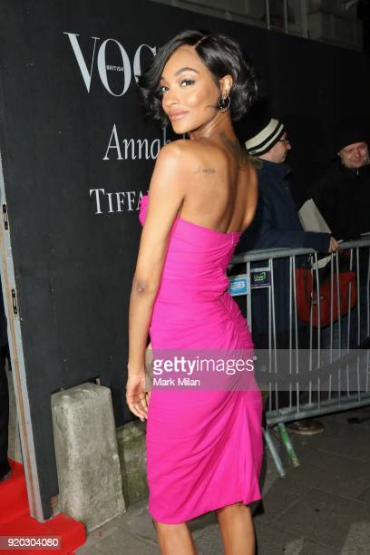 Jourdan Dunn seen at the Vogue and Tiffany Co party at Annabel's club after attending the EE British Academy Film Awards at the Royal Albert Hall on...