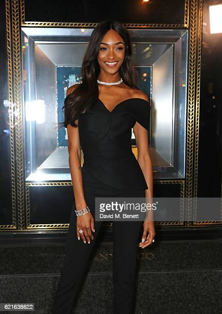 Jourdan Dunn unveils the 2016 Tiffany Christmas windows at the Tiffany Co Old Bond Street store marking the opening of the Tiffany Christmas shop on...