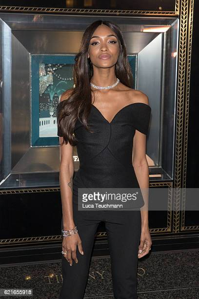 Jourdan Dunn unveils Tiffany Co Christmas Windows at Tiffany Co on November 7 2016 in London England