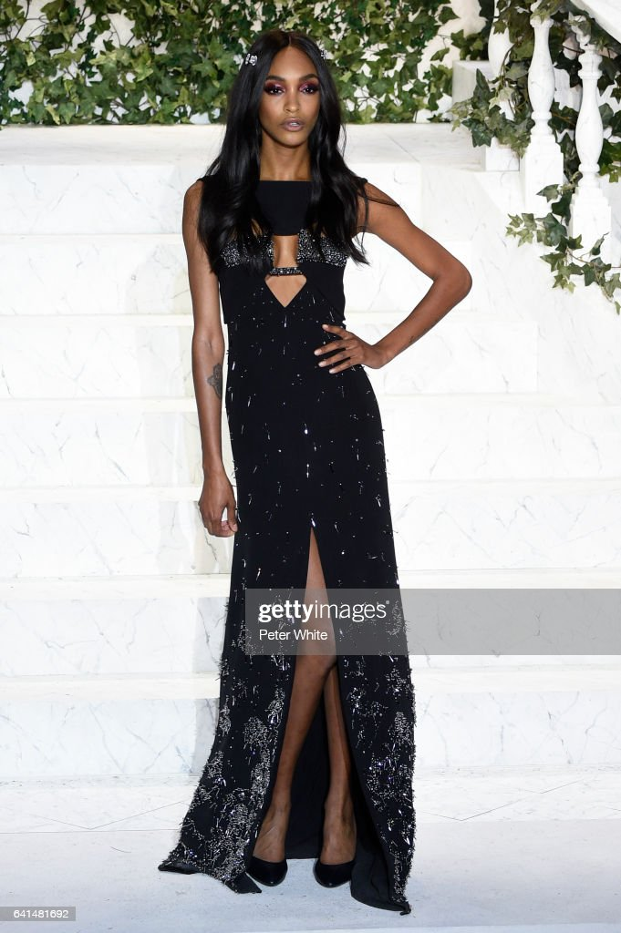 Jourdan Dunn walks the runway at La Perla fashion show Fall/Winter 2017-2018 Ready To Wear Show at SIR Stage 37 on February 9, 2017 in New York City.