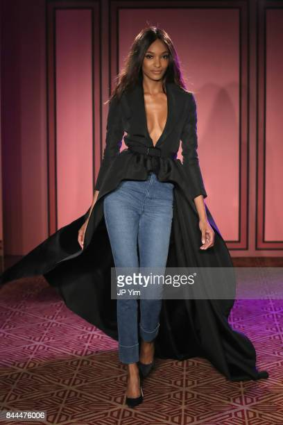 Jourdan Dunn walks the runway at the Brandon Maxwell fashion show during New York Fashion Week The Shows on September 8 2017 in New York City