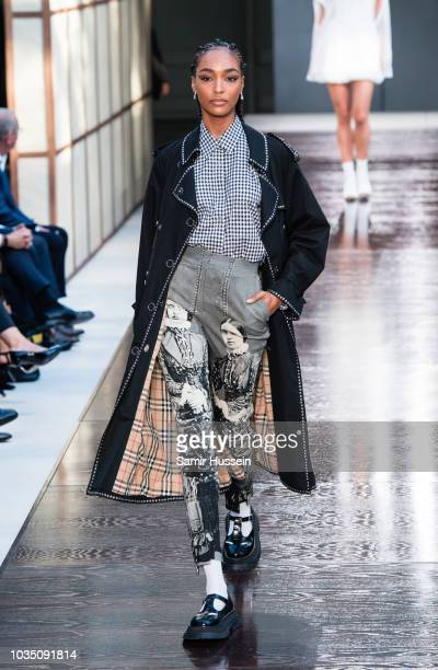 Jourdan Dunn walks the runway at the Burberry show during London Fashion Week September 2018 on September 17 2018 in London England