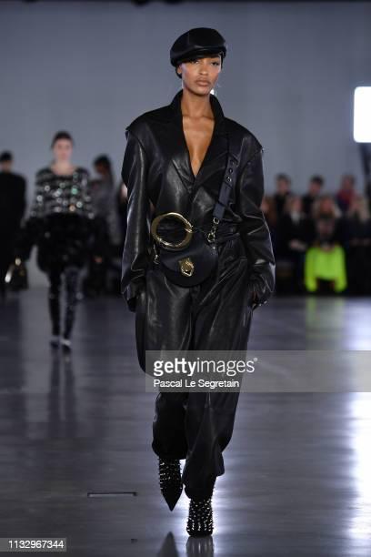 Jourdan Dunn walks the runway during the Balmain show as part of the Paris Fashion Week Womenswear Fall/Winter 2019/2020 on March 01, 2019 in Paris,...