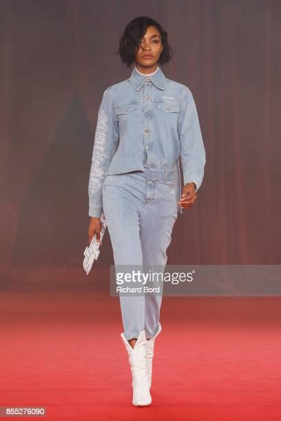 Jourdan Dunn walks the runway during the Off/White show as part of Paris Fashion Week Womenswear Spring/Summer 2018 on September 28 2017 in Paris...