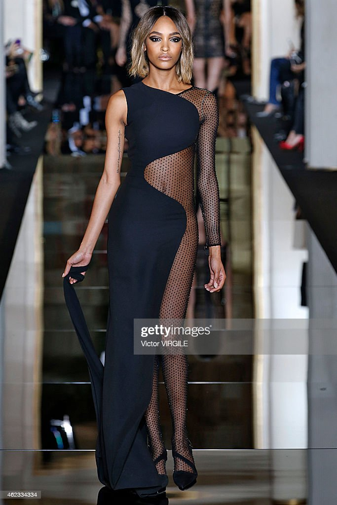 Jourdan Dunn walks the runway during the Versace show as part of Paris Fashion Week Haute Couture Spring/Summer 2015 on January 25, 2015 in Paris, France.
