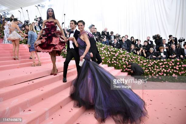 Jourdan Dunn, Zac Posen, and Katie Holmes attend The 2019 Met Gala Celebrating Camp: Notes on Fashion at Metropolitan Museum of Art on May 06, 2019...