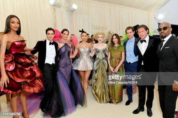 Jourdan Dunn Zac Posen Katie Holmes Nina Dobrev Julia Garner Gia Coppola Andrew Garfield Vito Schnabel and Jamie Foxx attend The 2019 Met Gala...