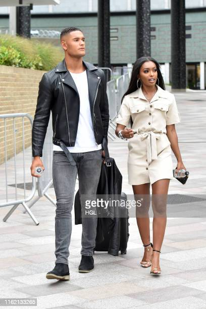 Jourdan Riane and Danny Williams seen at the ITV Studios on July 15 2019 in London England