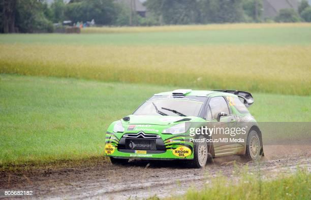 Jourdan Serderidis GRC Lara Vanneste BEL during the WRC Orlen 74 Rally Poland on June 30 2017 in Mikolajki Poland