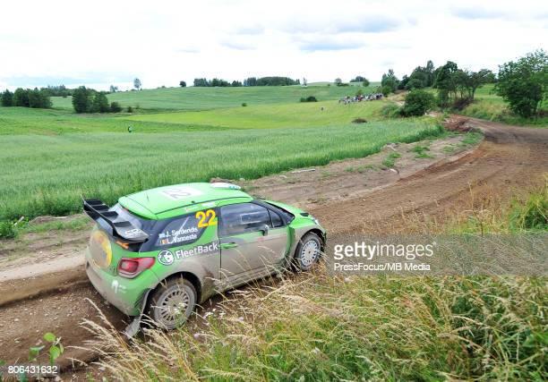 Jourdan Serderidis GRC Lara Vanneste BEL during the WRC Orlen 74 Rally Poland on July 01 2017 in Mikolajki Poland