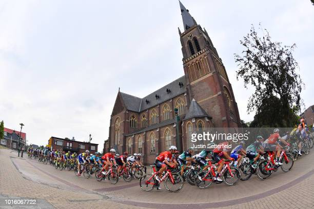 Joure City / Church / Landscape / Peloton / during the 14th BinckBank Tour 2018 Stage 1 a 1773km stage from Heerenveen to Bolsward / BBT / on August...