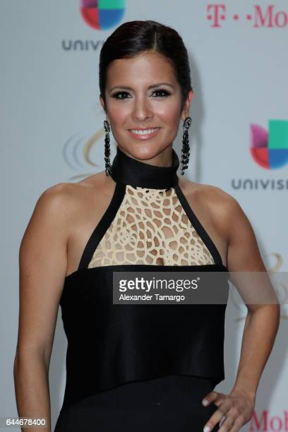 Journalist Adriana Monsalve attends Univision's 29th Edition of Premio Lo Nuestro A La Musica Latina at the American Airlines Arena on February 23...