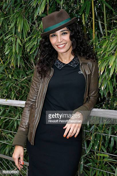 Journalist Aida Touihri attends Day Fourteen Women single's Final of the 2016 French Tennis Open at Roland Garros on June 4 2016 in Paris France