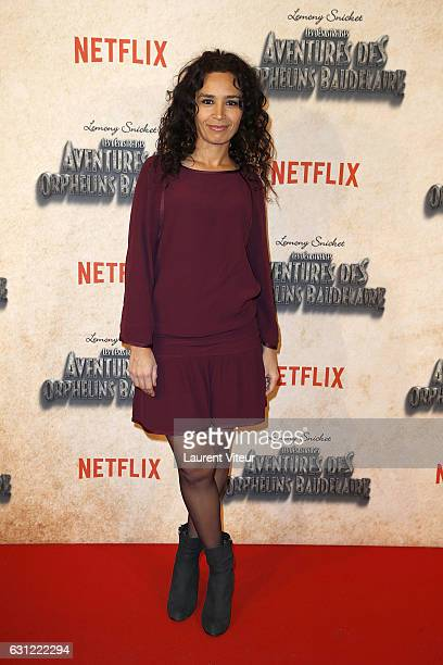 Journalist Aida Touihri attends Netflix TV Series 'les Aventures des Orphelins Baudelaire' Paris Premiere at Bibliotheque Nationale de France...