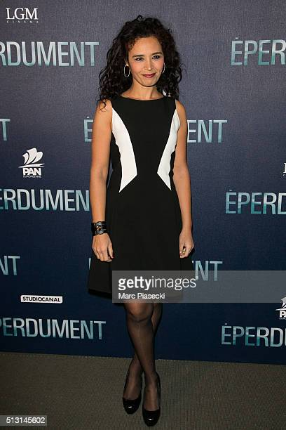 Journalist Aida Touihri attends the 'Eperdument' premiere at Cinema UGC Normandie on February 29 2016 in Paris France