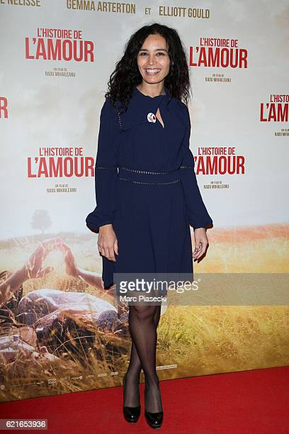 Journalist Aida Touihri attends the 'L'Histoire de l'Amour' Premiere at Gaumont Capucines on November 7 2016 in Paris France