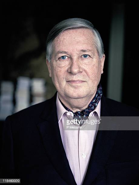 Journalist Alain Duhamel is photographed for Le Monde on January 1 2011 in Paris France