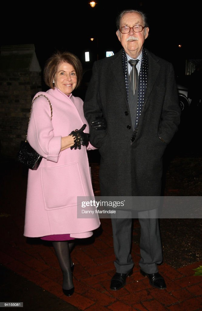 Journalist Alan Whicker (R) and Valerie Kleeman attend the Breast Cancer Haven Christmas Carol Service on December 8, 2009 in London, England.