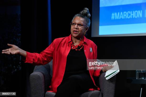 Journalist A'Lelia Bundles appears at In Her Footsteps The Legacy of Madam CJ Walker at the March On Washington Film Festival on July 13 2018 in...