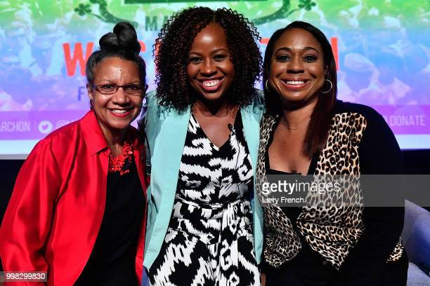 Journalist A'Lelia Bundles, Dr. Tiffany Gill and award winning film and television hair designer Camille Friend appear at In Her Footsteps: The...