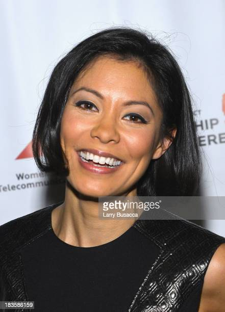 Journalist Alex Wagner attends the 2013 WICT Leadership Conference at the New York Marriott on October 7 2013 in New York City
