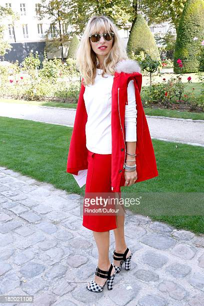 Journalist Alexandra Golovanoff arriving at the Christian Dior show as part of the Paris Fashion Week Womenswear Spring/Summer 2014 held at Musee...